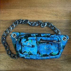 HVISK floral Fanny pack with grey chainlink strap